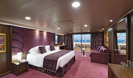 Kajuta Suite s uhlovým balkonem s RIVIERA TOUR