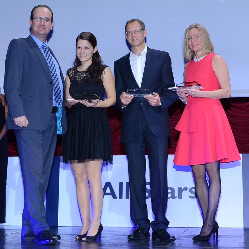 BEST NETWORK Werner Fankhauser_Gewinnerin Anita Dudasova von Satur Travel aus SVK_Andreas Triebl von Springer Reisen_Alexandra Höferer von Papageno