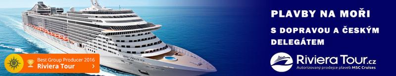 Plavby na moři s delegátem od Riviera Tour